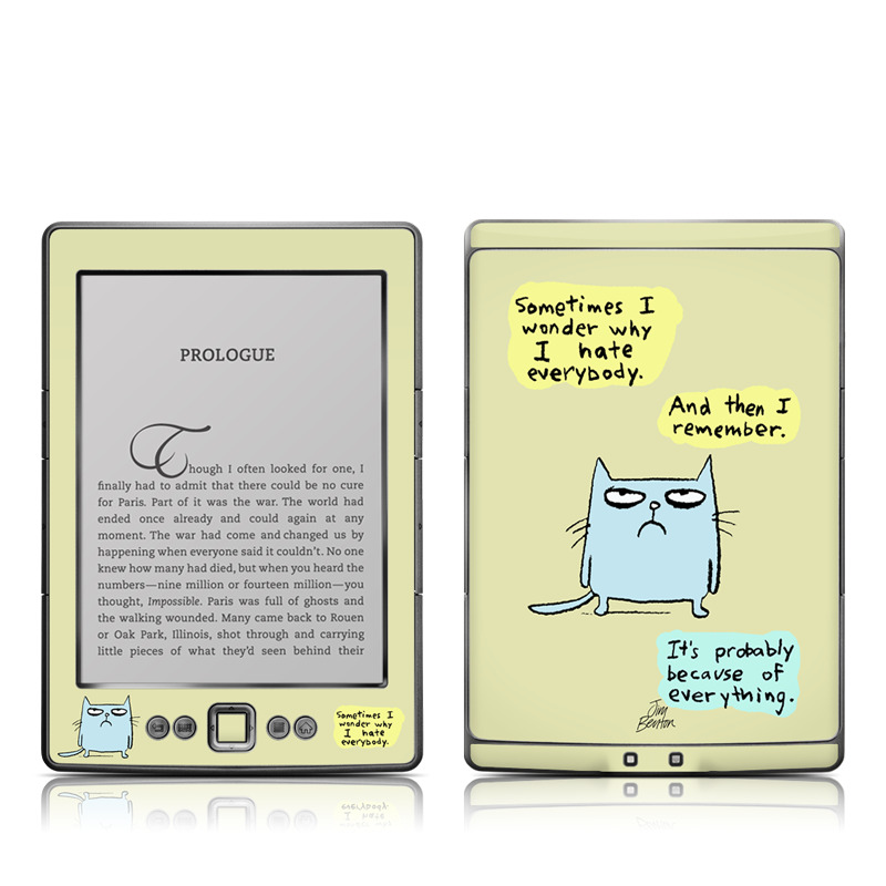 Catwad Hate Amazon Kindle 4 Skin
