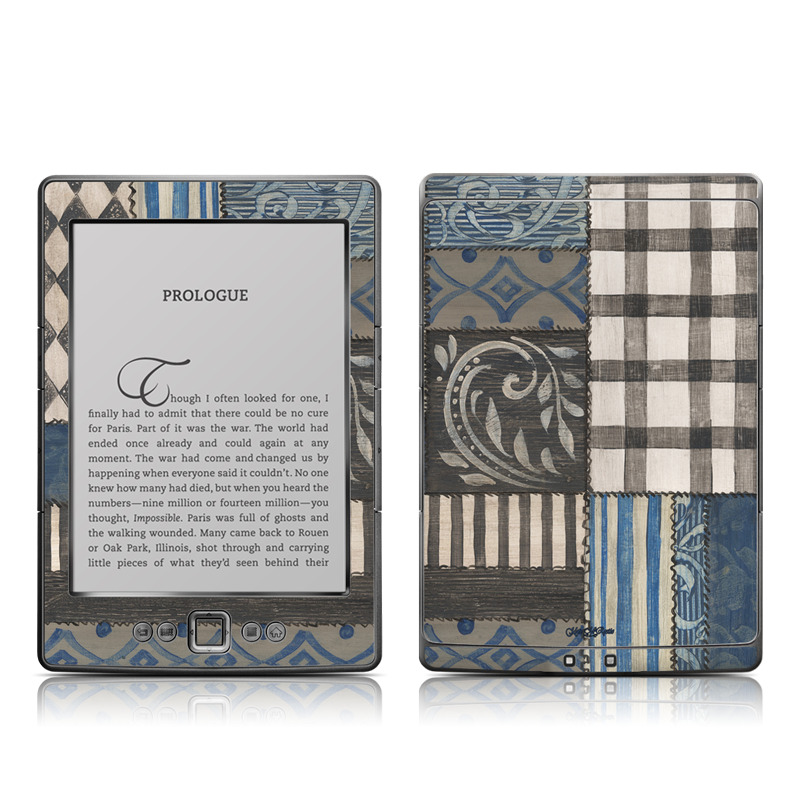 Amazon Kindle 4th Gen Skin design of Blue, Pattern, Wall, Brown, Textile, Room, Design, Beige, Floor with blue, pink, white colors