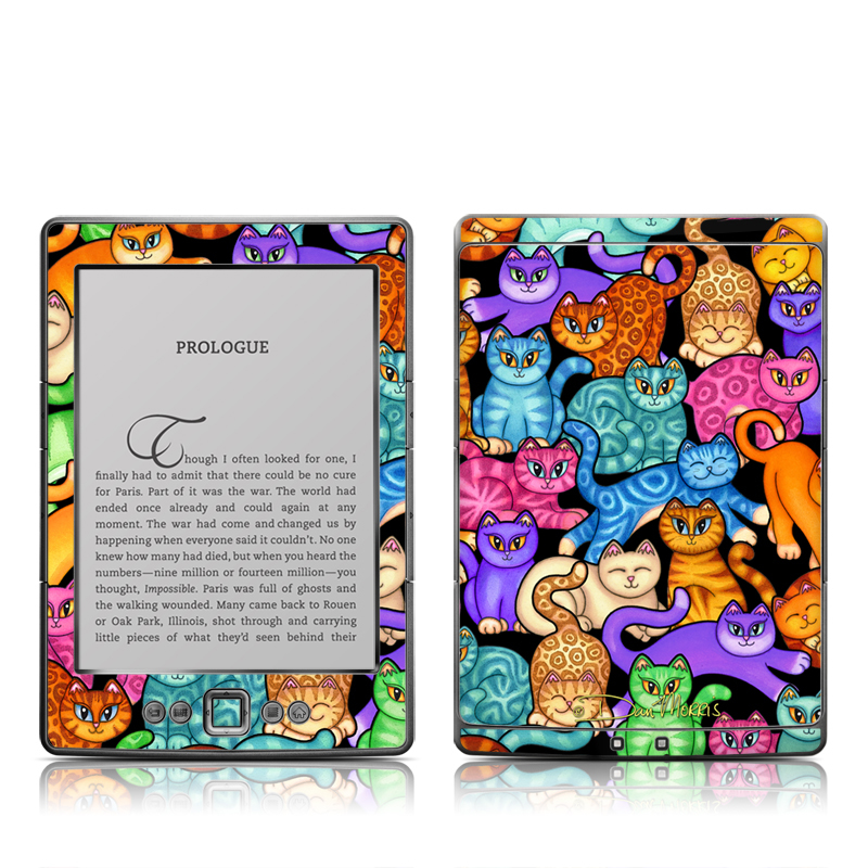 Colorful Kittens Amazon Kindle 4 Skin