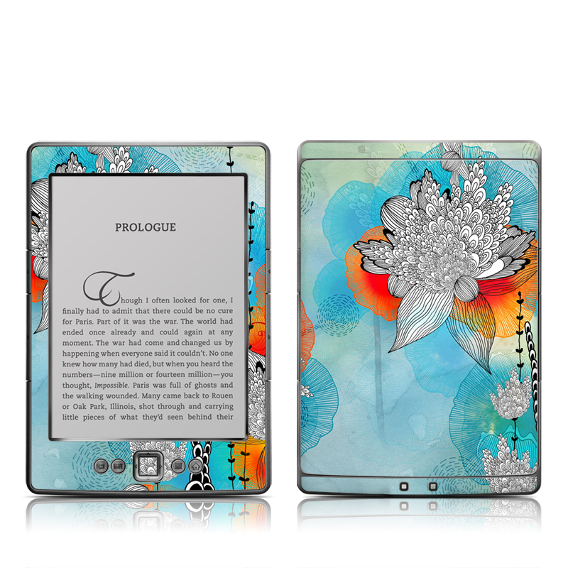 Coral Amazon Kindle 4 Skin