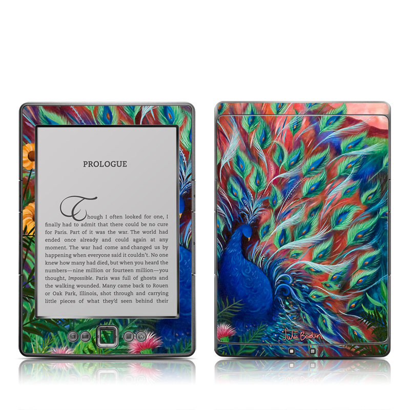 Coral Peacock Amazon Kindle 4 Skin