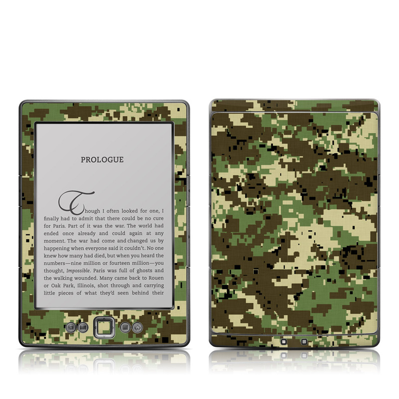 Digital Woodland Camo Amazon Kindle 4 Skin