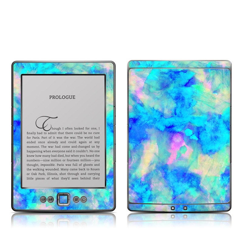Electrify Ice Blue Amazon Kindle 4 Skin
