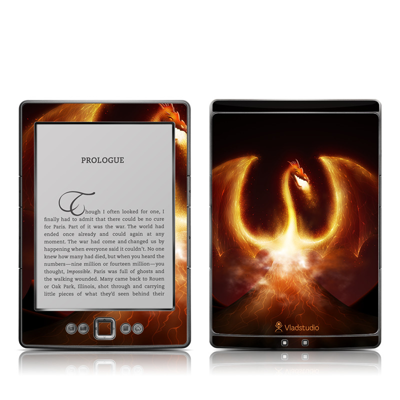 Fire Dragon Amazon Kindle 4 Skin