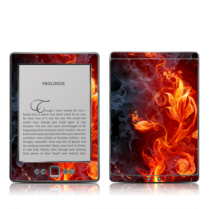 Flower Of Fire Amazon Kindle 4 Skin