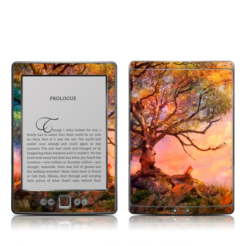 Fox Sunset Amazon Kindle 4 Skin