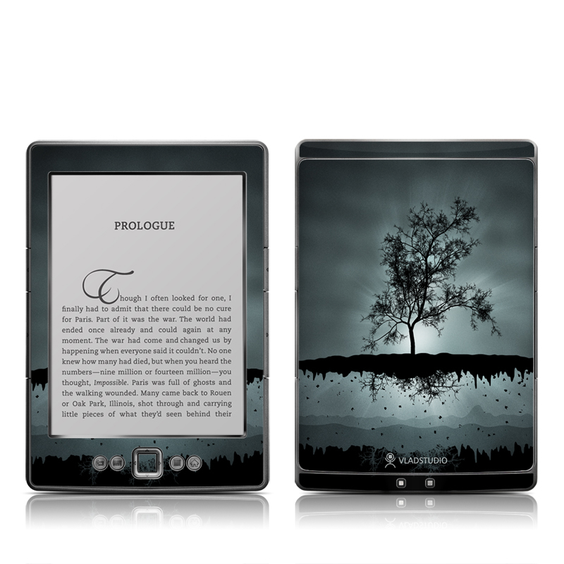 Flying Tree Black Amazon Kindle 4 Skin