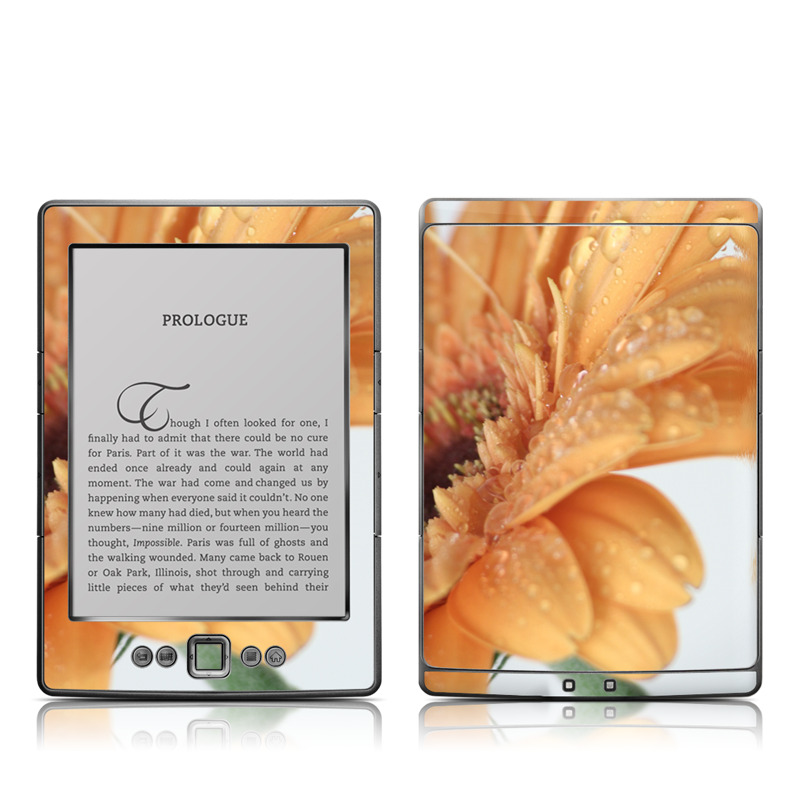Golden Gerbera Amazon Kindle 4 Skin