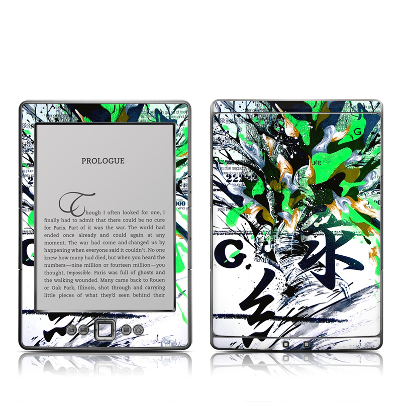 Green 1 Amazon Kindle 4 Skin