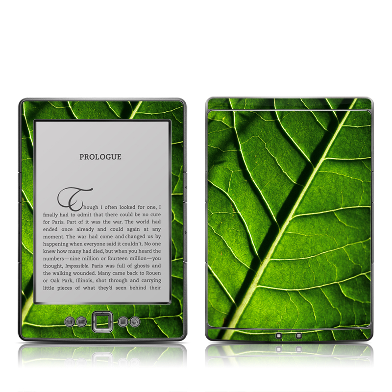 Green Leaf Amazon Kindle 4 Skin