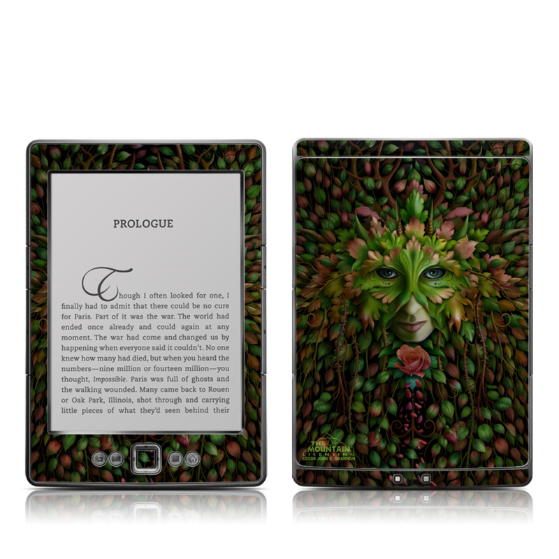 Green Woman Amazon Kindle 4 Skin
