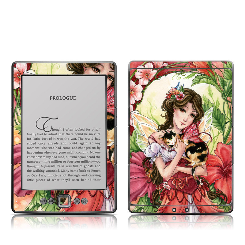 Hibiscus Fairy Amazon Kindle 4 Skin