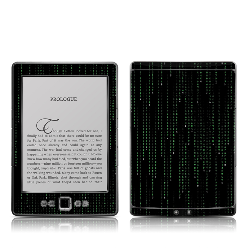 Matrix Style Code Amazon Kindle 4 Skin