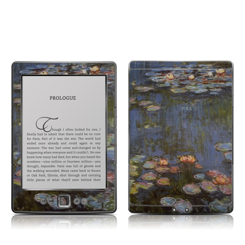 Water lilies Amazon Kindle 4 Skin