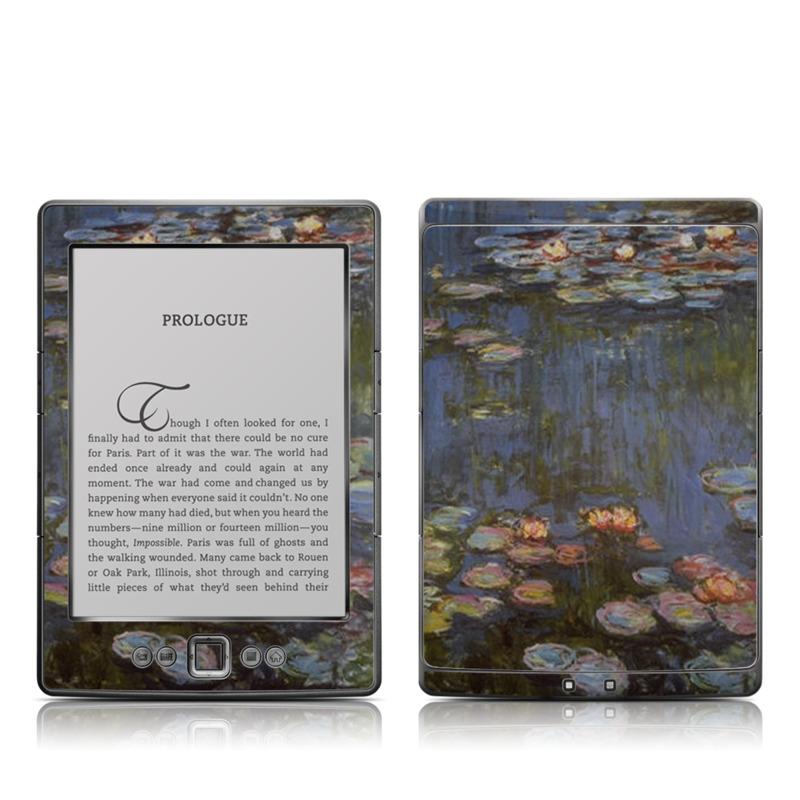 Water lilies Amazon Kindle 4 Skin