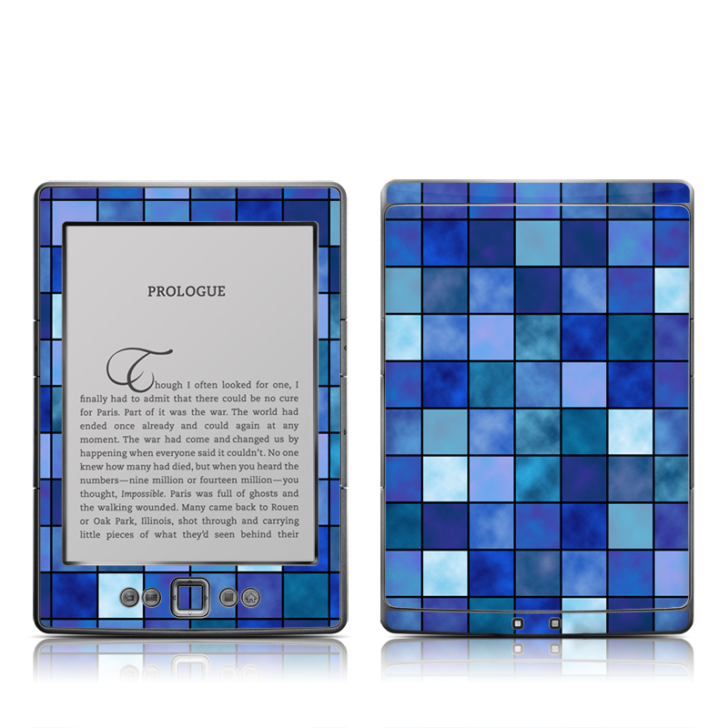 Blue Mosaic Amazon Kindle 4 Skin