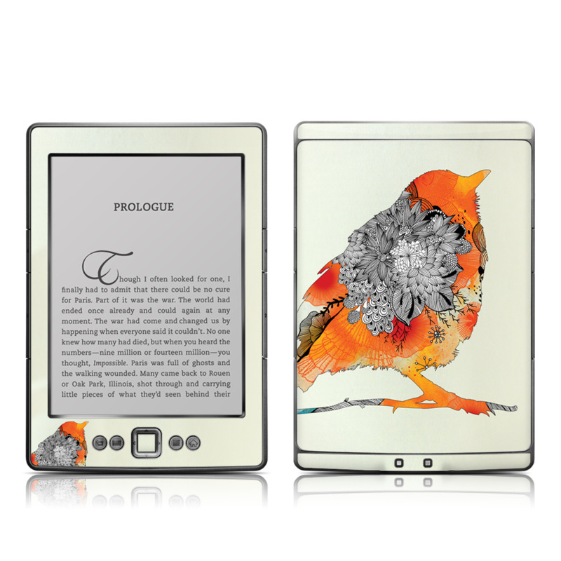 Orange Bird Amazon Kindle 4 Skin