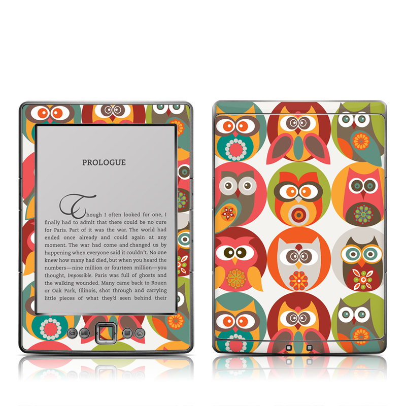 Owls Family Amazon Kindle 4 Skin