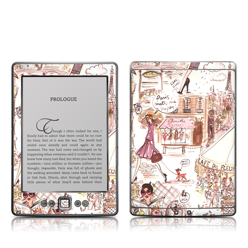 Paris Makes Me Happy Amazon Kindle 4 Skin