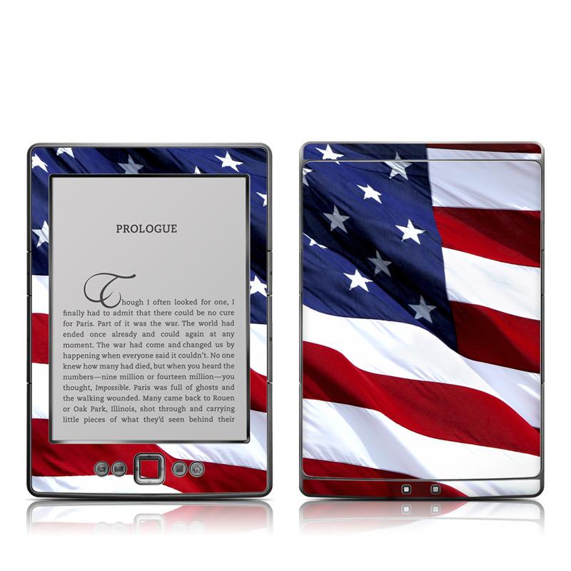 Patriotic Amazon Kindle 4 Skin