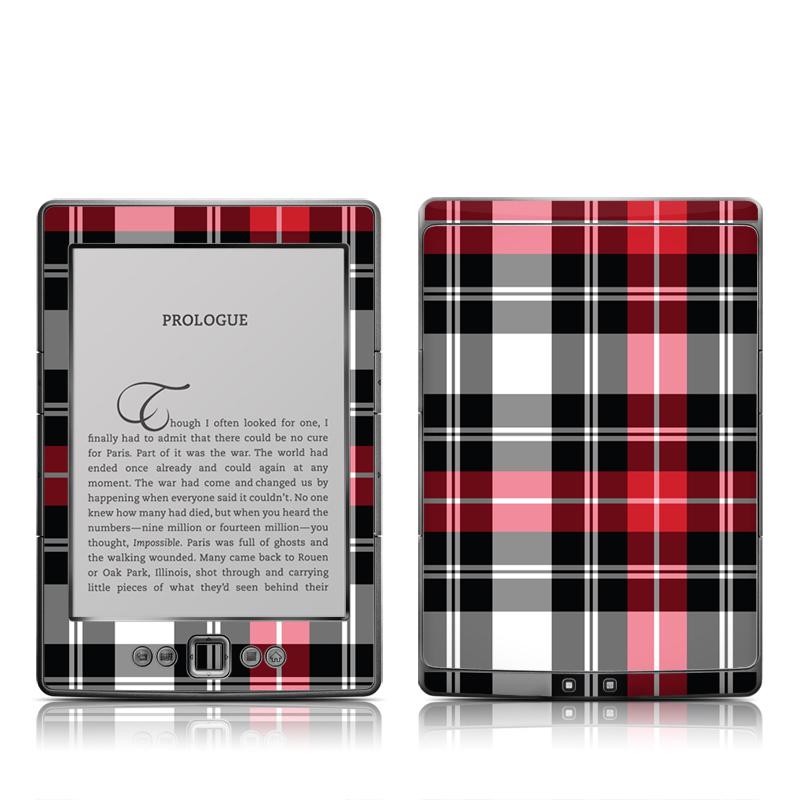 Red Plaid Amazon Kindle 4 Skin