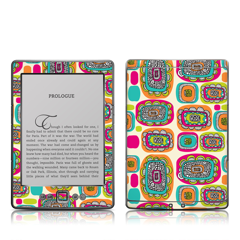 Pod Flowers Amazon Kindle 4 Skin