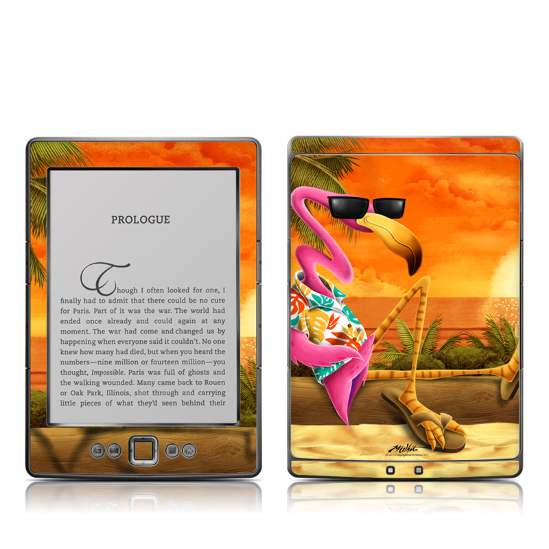 Sunset Flamingo Amazon Kindle 4 Skin