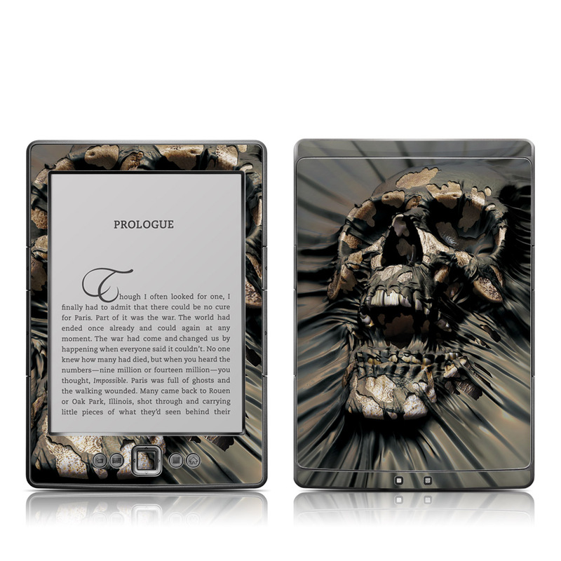 Skull Wrap Amazon Kindle 4 Skin