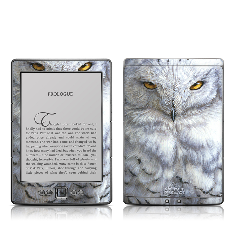 Snowy Owl Amazon Kindle 4 Skin