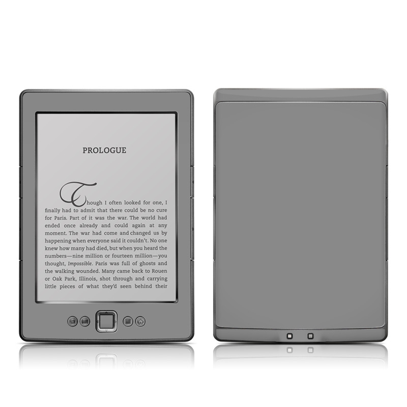 Solid State Grey Amazon Kindle 4 Skin