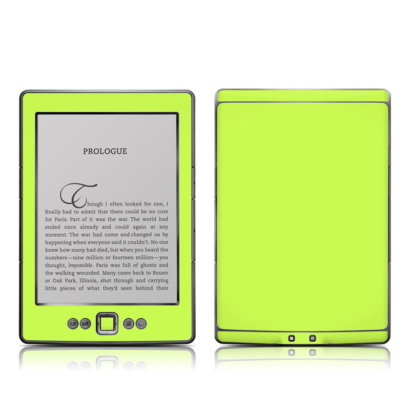 Amazon Kindle 4th Gen Skin design of Green, Yellow, Text, Leaf, Font, Grass with green colors