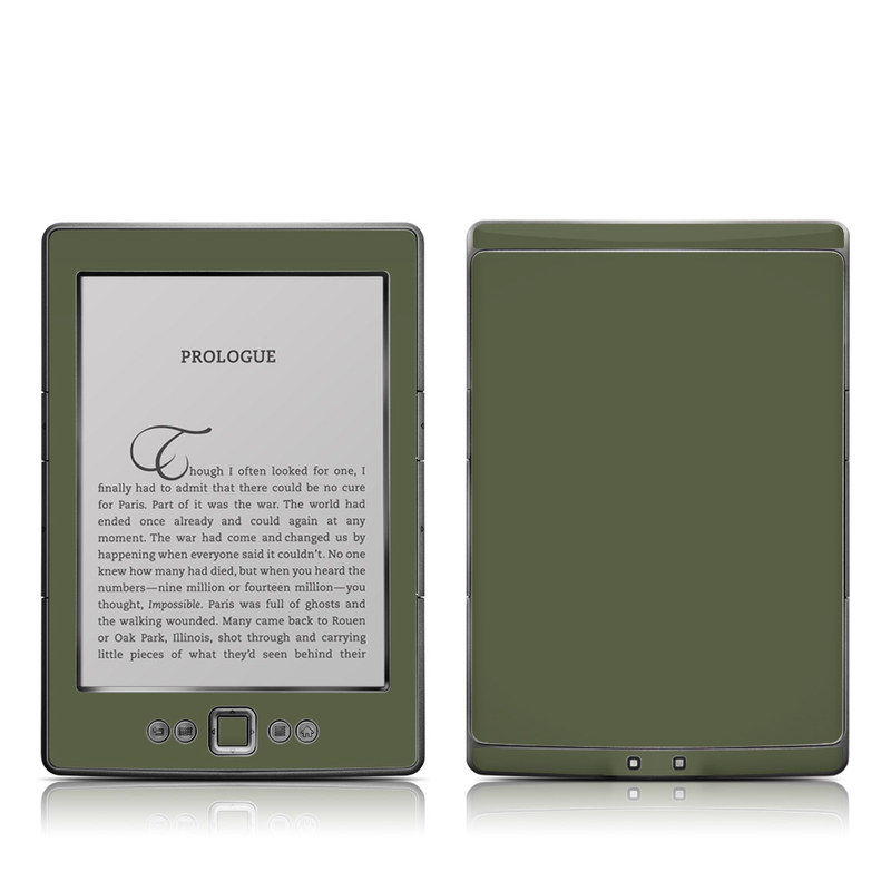Solid State Olive Drab Amazon Kindle 4 Skin