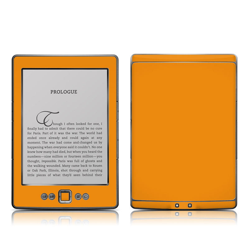 Amazon Kindle 4th Gen Skin design of Orange, Yellow, Brown, Text, Amber, Font, Peach with orange colors