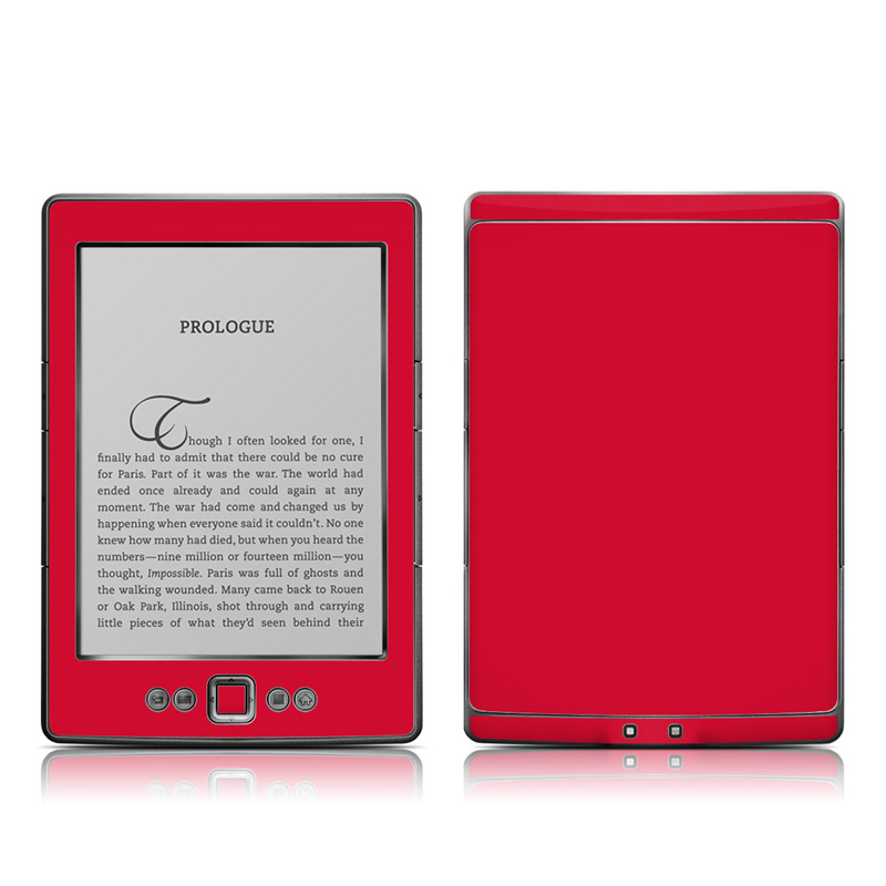 Amazon Kindle 4th Gen Skin design of Red, Pink, Maroon, Purple, Orange, Violet, Magenta, Material property, Font, Peach with red colors