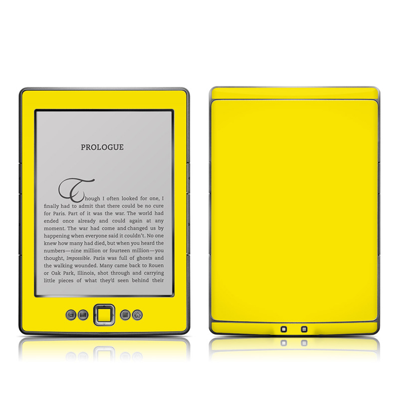 Solid State Yellow Amazon Kindle 4 Skin