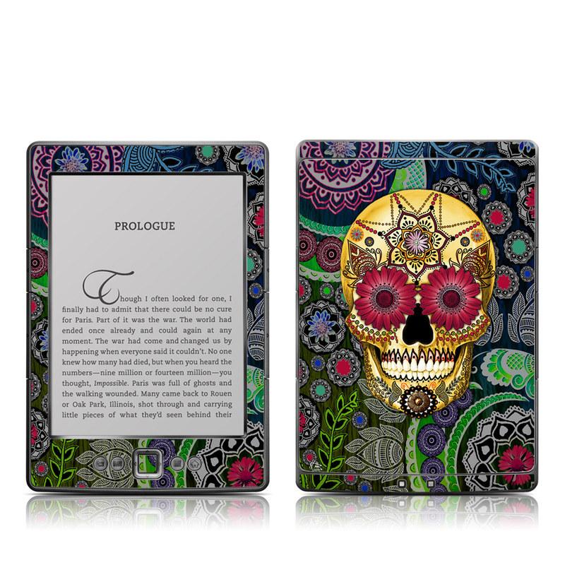 Sugar Skull Paisley Amazon Kindle 4 Skin