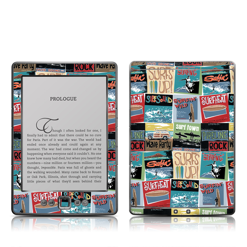 Surf Sounds Amazon Kindle 4 Skin