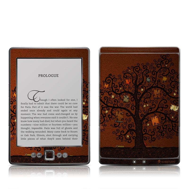 Tree Of Books Amazon Kindle 4 Skin