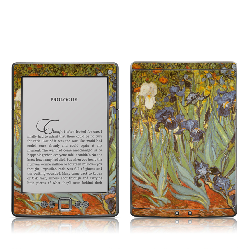 Irises Amazon Kindle 4 Skin