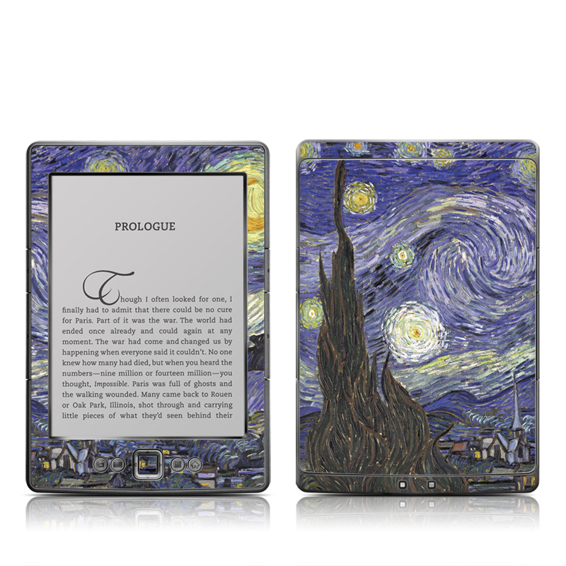 Starry Night Amazon Kindle 4 Skin