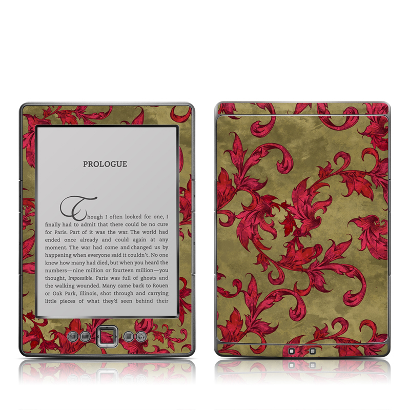 Vintage Scarlet Amazon Kindle 4 Skin