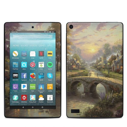 Sunset On Lamplight Lane Amazon Fire 7 Skin