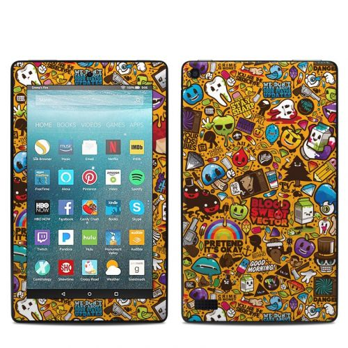 Psychedelic Amazon Fire 7 Skin