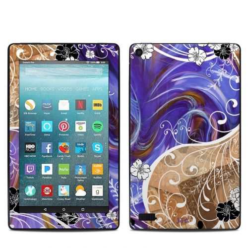 Purple Waves Amazon Fire 7 Skin