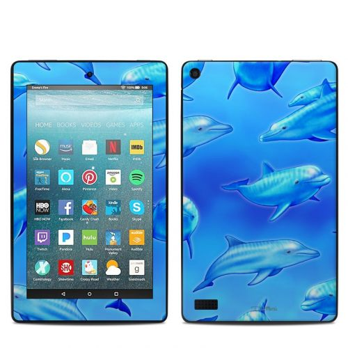 Swimming Dolphins Amazon Fire 7 Skin