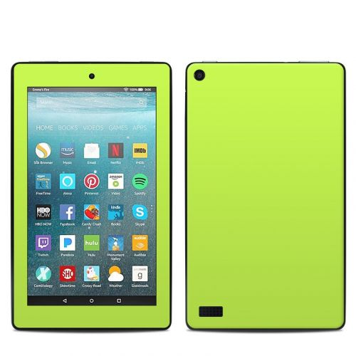 Solid State Lime Amazon Fire 7 Skin