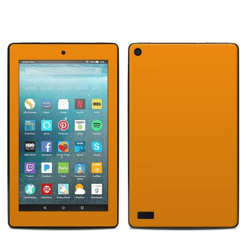 Solid State Orange Amazon Fire 7 Skin