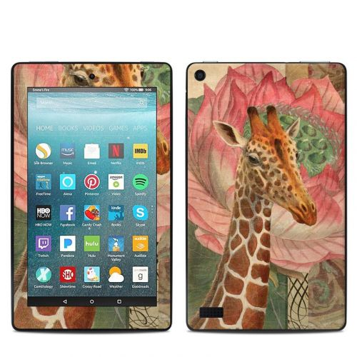 Whimsical Giraffe Amazon Fire 7 Skin