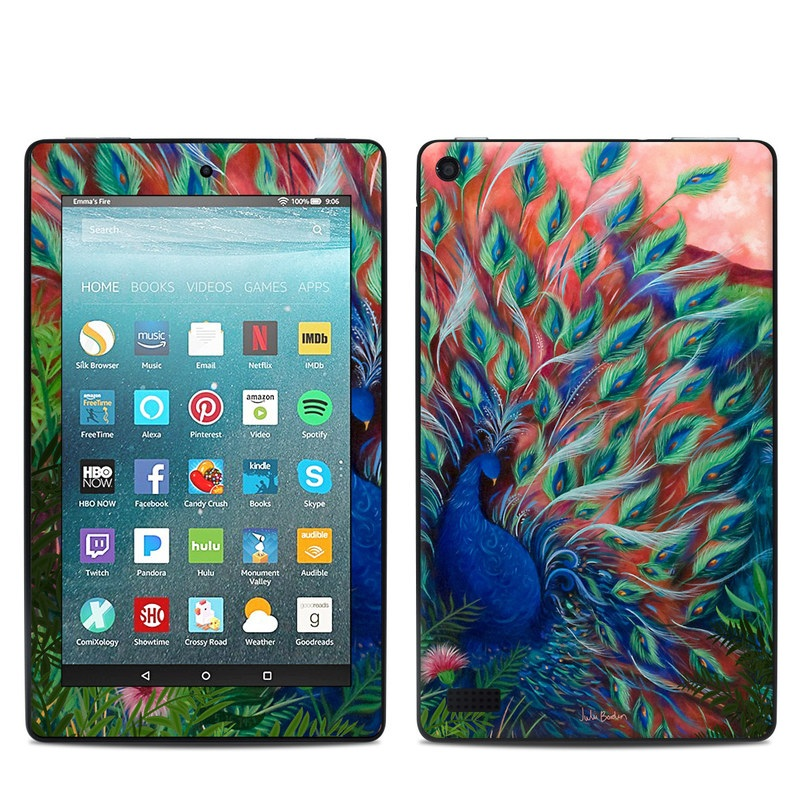 Coral Peacock Amazon Fire 7 Skin