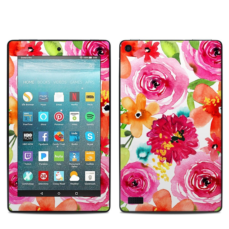 Floral Pop Amazon Fire 7 Skin
